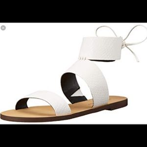 Rebecca Minkoff white leather sandals Emma
